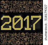 vector diamond numbers 2017 ... | Shutterstock .eps vector #518179327