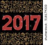 vector diamond numbers 2017 ... | Shutterstock .eps vector #518179333