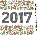 vector diamond numbers 2017 ... | Shutterstock .eps vector #518179357