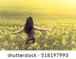 beautiful lovely free woman in... | Shutterstock . vector #518197993