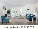 beautiful and large living room ... | Shutterstock . vector #518199697