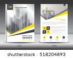 yellow cover annual report... | Shutterstock .eps vector #518204893