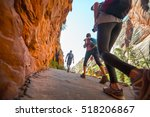 group of young hikers move on...   Shutterstock . vector #518206867