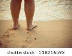 beautiful young legs  walking... | Shutterstock . vector #518216593