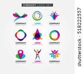 colorful vibrant logo set sign... | Shutterstock .eps vector #518222557