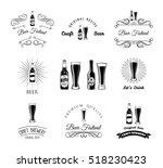 beer  bar  pub labels and badge ... | Shutterstock .eps vector #518230423