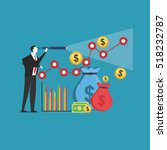 business prediction. business... | Shutterstock .eps vector #518232787