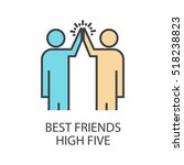 best friends high five flat