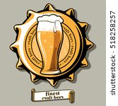 craft beer brewery emblem on... | Shutterstock .eps vector #518258257