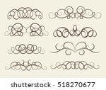 vintage decor elements and... | Shutterstock .eps vector #518270677
