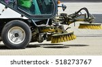 Street Cleaner Vehicle On The...