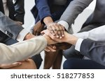 Small photo of Business Team Stack Hands Support Concept