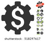 development cost icon with... | Shutterstock .eps vector #518297617
