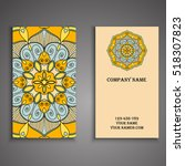 vector business card. floral... | Shutterstock .eps vector #518307823