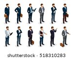 business people isometric set... | Shutterstock .eps vector #518310283