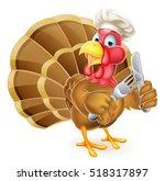 cartoon thanksgiving or... | Shutterstock .eps vector #518317897