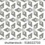 abstract geometric seamless... | Shutterstock .eps vector #518322733
