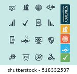 strategy icon set vector | Shutterstock .eps vector #518332537