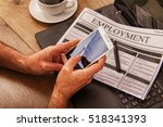searching for a new job or... | Shutterstock . vector #518341393