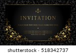 invitation card design | Shutterstock .eps vector #518342737