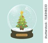Christmas Snow Globe With Fir...