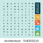 construction industry icon set ... | Shutterstock .eps vector #518353213