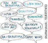 speech bubbles with original... | Shutterstock .eps vector #518357653