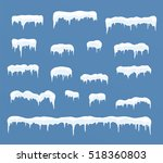 set of ice caps. snowdrifts ... | Shutterstock .eps vector #518360803