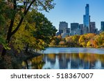 fall in central park at the... | Shutterstock . vector #518367007