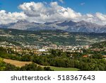 the city of gap in the hautes...   Shutterstock . vector #518367643