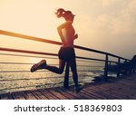 healthy lifestyle young fitness ... | Shutterstock . vector #518369803