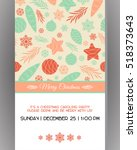 invitation to a christmas party.... | Shutterstock .eps vector #518373643