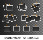 blank photo frame on... | Shutterstock .eps vector #518386363