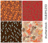 seamless flowers pattern | Shutterstock .eps vector #518391253