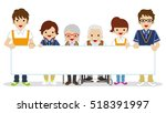 senior caregiver holding a... | Shutterstock .eps vector #518391997