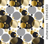 seamless dots modern luxury... | Shutterstock .eps vector #518414323