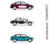 mockup of white passenger car....   Shutterstock .eps vector #518420917