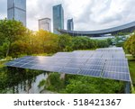 solar panels in the park of...