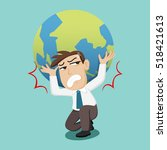 businessman holding the earth... | Shutterstock .eps vector #518421613