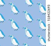 pinguin pattern | Shutterstock .eps vector #518422693
