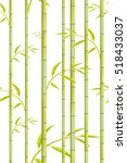 bamboo pattern. vector green...