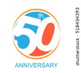 50th years anniversary and... | Shutterstock .eps vector #518434393