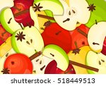 different color apples with... | Shutterstock .eps vector #518449513