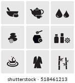 spa icons | Shutterstock .eps vector #518461213