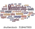 membership  word cloud concept... | Shutterstock . vector #518467003