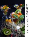 fruit desserts  salad of... | Shutterstock . vector #518468293
