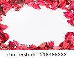 roses petals on white isolated... | Shutterstock . vector #518488333