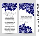 invitation with floral... | Shutterstock .eps vector #518490007