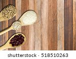 top view spoon with seed on... | Shutterstock . vector #518510263