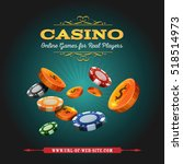 casino and gambling background  ... | Shutterstock .eps vector #518514973